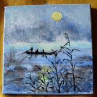 La pescuit-pictura ulei pe panza;MacedonLuiza