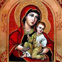 Maica Domnului cu pruncul (sub o arcad� rosie)