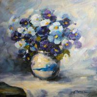 Vaza cu violete