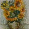 Natur moart cu floarea soarelui