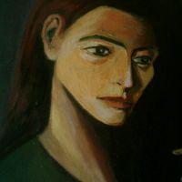 Femeie cu flaut (detaliu )