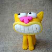 Yellow smiling cat