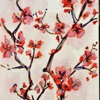Ramuri si flori rosii