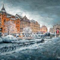Piata Revolutiei In Plina Iarna