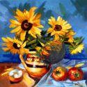 Floarea Soarelui in vas de lut
