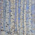 Winter with birch trees