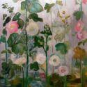 Flori de nalba in gradina casei de pe Crangul Meiului