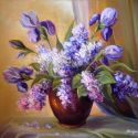liliac si irisi violet