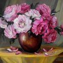 Vas cu bujori roz