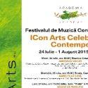 Festivalul de Muzica Contemporana ICon Arts editia a XIII a