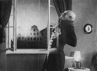 Proiectii Nosferatu in curtea de onoare a MNAR