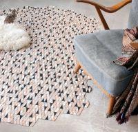 Covoare si textile din lemn in culori si modele geometrice uimitoare