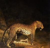 Jacques-Laurent Agasse - Doi leoparzi jucandu-se