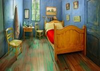 Dormitor recreat dupa celebrul tablou al lui Vincent van Gogh