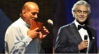 Gheorghe Zamfir si Andrea Bocelli, in duet la Cluj si Bucuresti