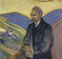 Friedrich Nietzsche vazut de Edvard Munch