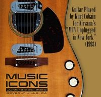 Chitara folosita de Kurt Cobain in concertul MTV Unplugged va fi scoasa la licitatie