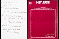 """Versurile piesei """"Hey Jude"""" vor fi scoase la licitatie"""
