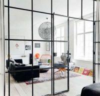 Interioare elegante cu pereti din sticla