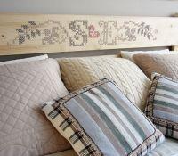 Piese de mobilier si accesorii din lemn decorate cu broderii