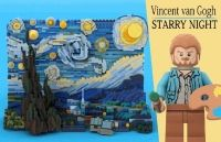 "Tabloul ""Noapte instelata"" de Vincent van Gogh va avea o versiune LEGO"
