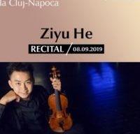 Recital Ziyu He la Academia de Muzica